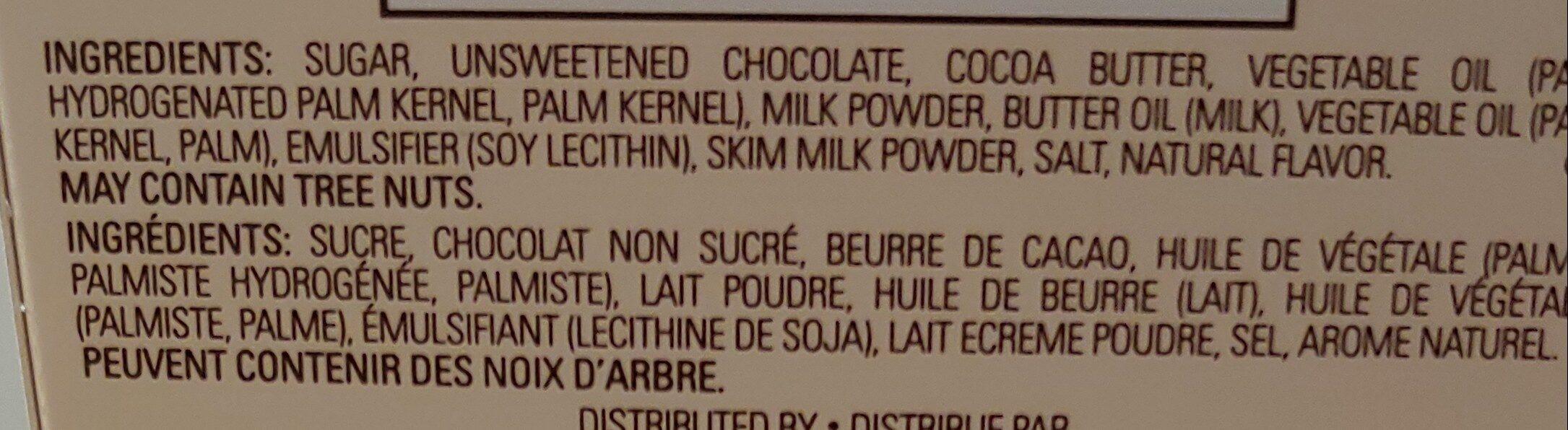 godiva chocolates - Ingredients - en