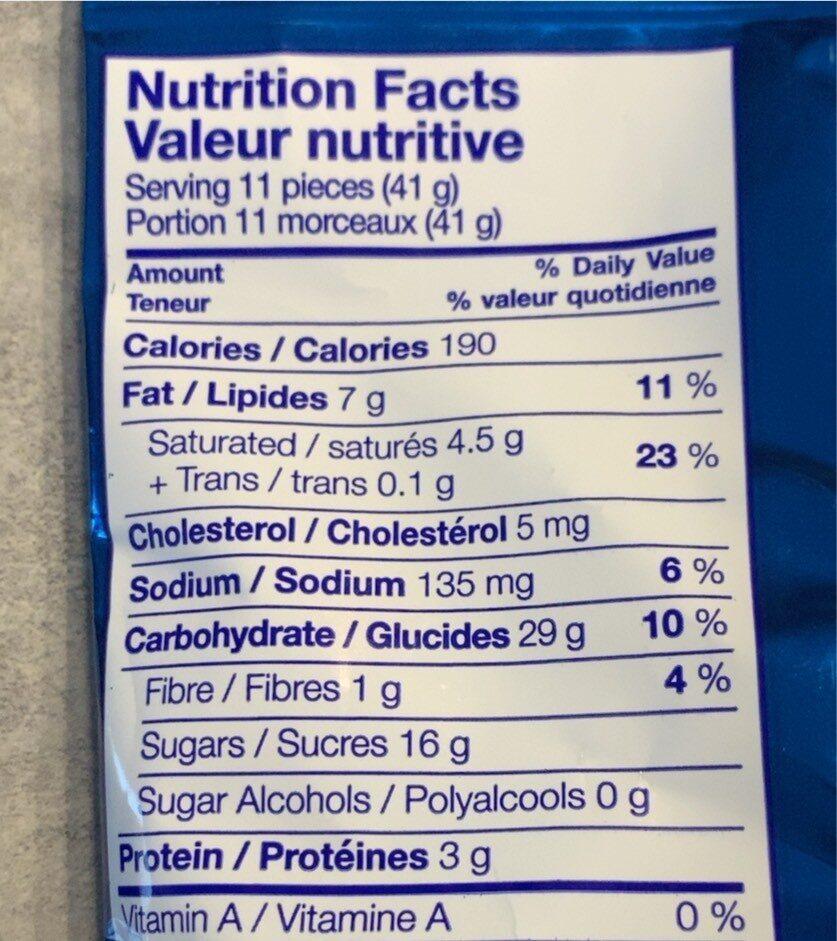 Bretzels enrobés de chocolat au lait - Informations nutritionnelles - fr
