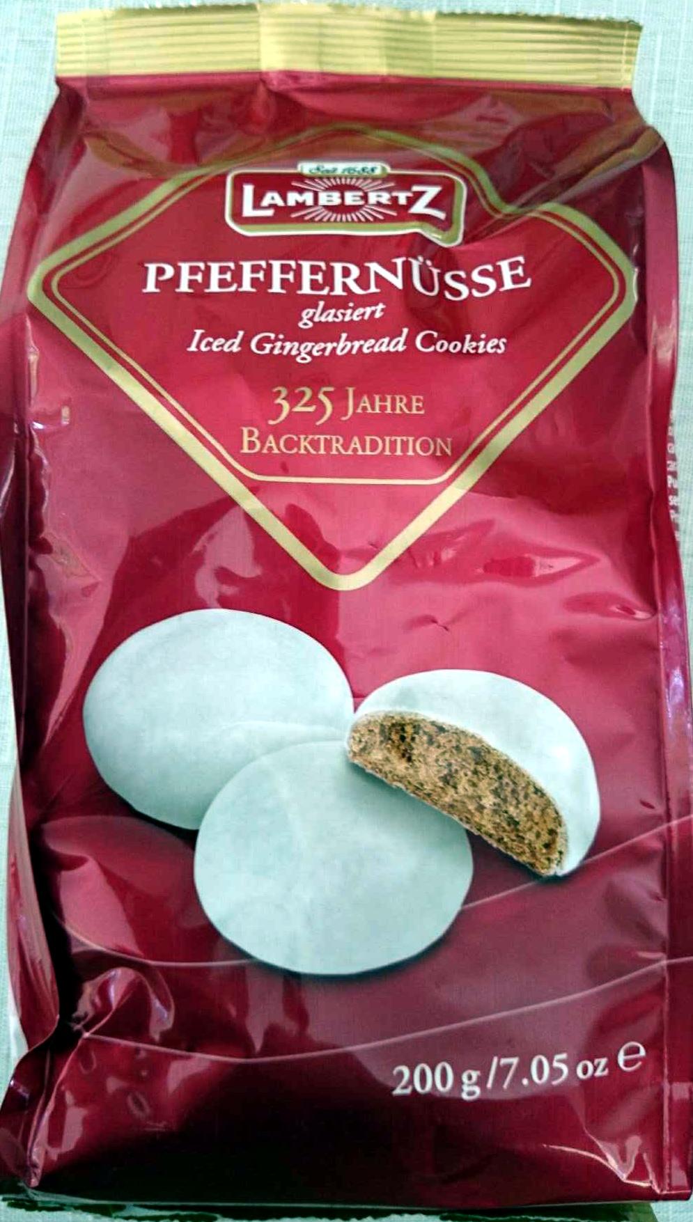 Pfeffernusse Iced Gingerbread Cookies - Product