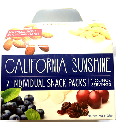 California Sunshine 7 individual snack packs - Product