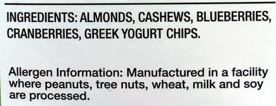 California Sunshine 7 individual snack packs - Ingredients