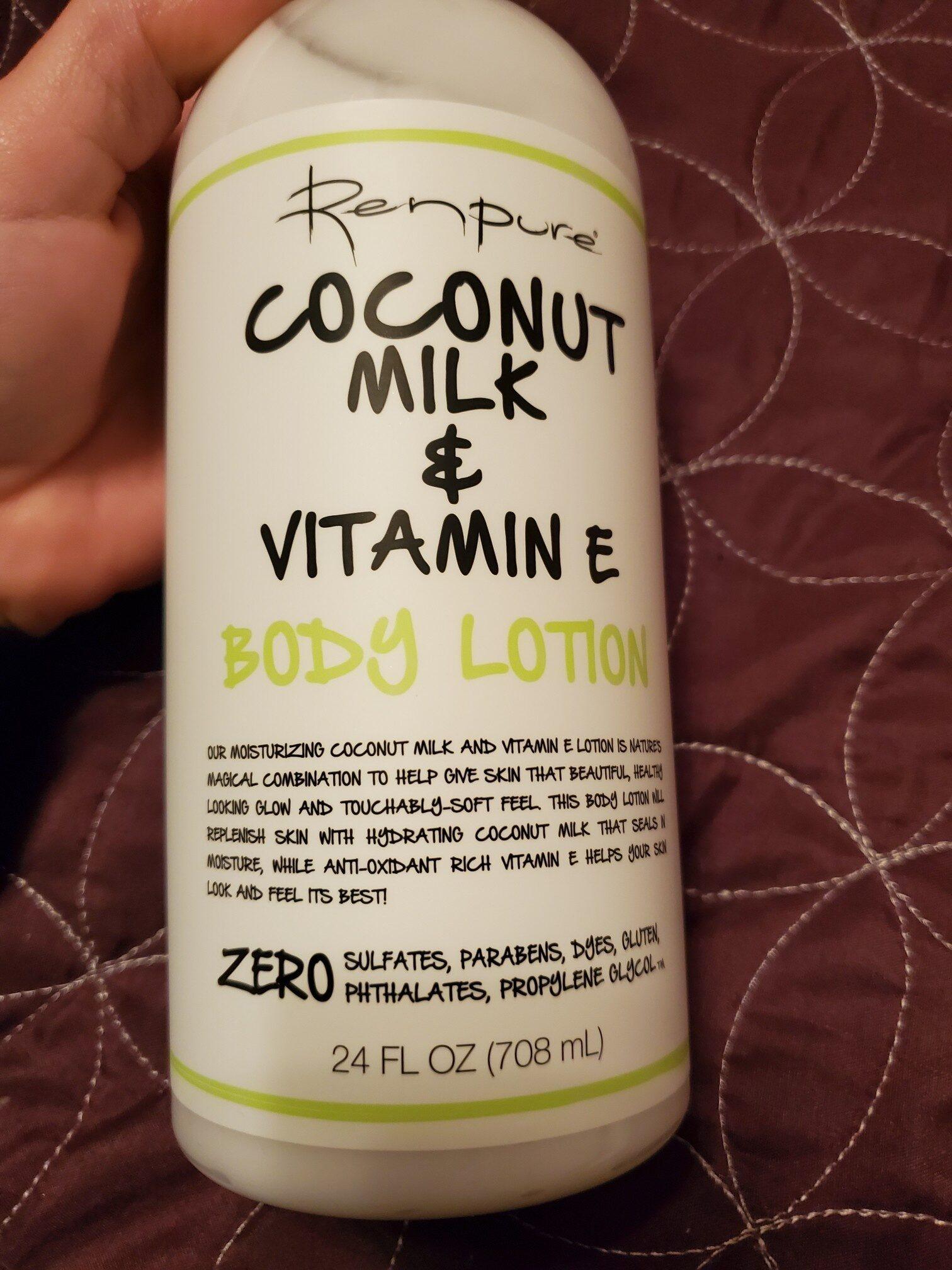 Renpure  Coconut milk and vitamin E body lotion - Product