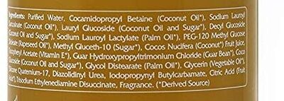 Renpure  Coconut milk and vitamin E body lotion - Ingredients