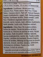 Craquelins au chou-fleur- saveur fromagée - Ingredients - fr