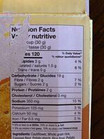 Craquelins au chou-fleur- saveur fromagée - Nutrition facts - fr