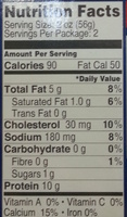 Wild Pacific Sardines in Tomato Sauce - Nutrition facts - en