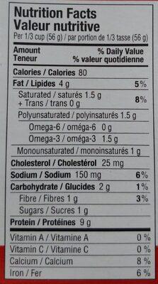 Sardines - Nutrition facts - en