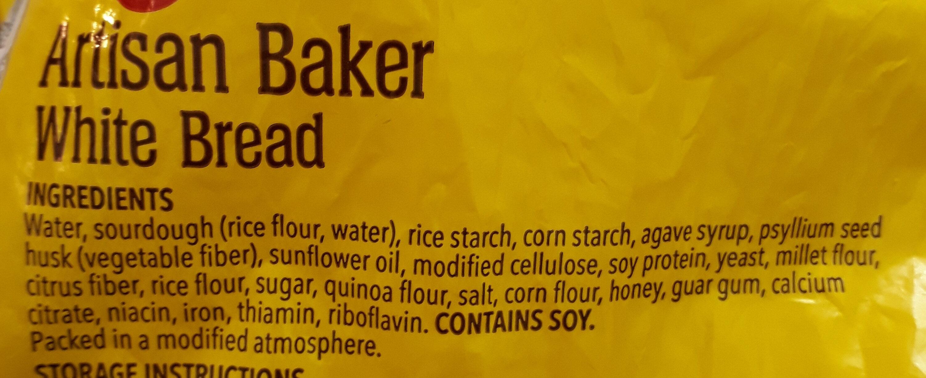 Gluten free artisan baker white bread - Ingredients - en