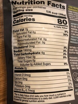 Mozzarella shreds - Nutrition facts - en