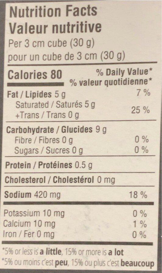 Parmesan vegetalien - Informations nutritionnelles - fr