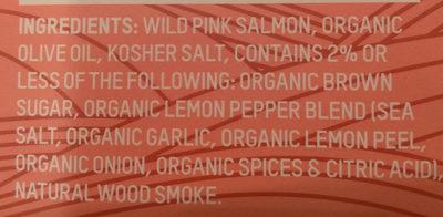 Wild pink salmon - Ingredients