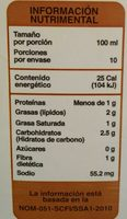 Coconut Milk + almendra - Voedingswaarden - es