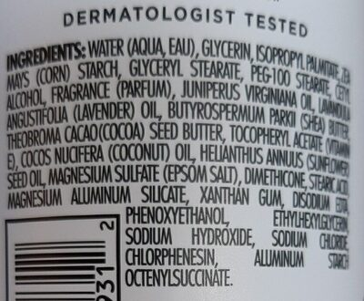 dr teals body lotion - Ingredients