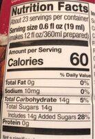Black cherry cola syrup - Informations nutritionnelles - en