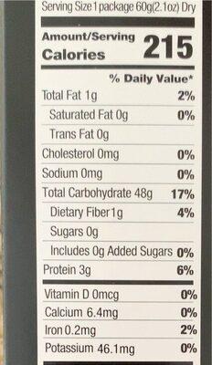 Boxes of rice noodle - Nutrition facts - en
