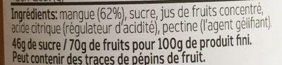 Confiture de mangue - Ingredients - fr