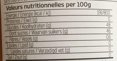 Confiture de mangue - Nutrition facts - fr