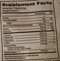 Xtend BCAAs Watermelon - Nutrition facts
