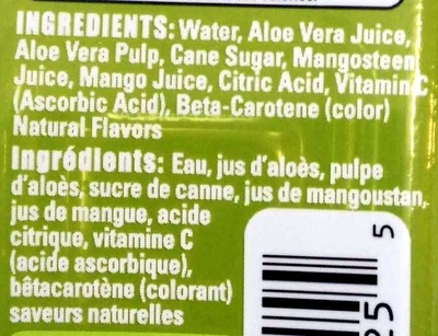 Allure Mango - Ingredients