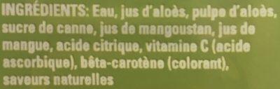 Allure Mango - Ingrédients
