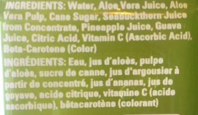 Aloe vera juice drink - Ingrédients - fr