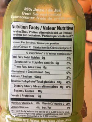 Aloe vera juice drink - Informations nutritionnelles - fr