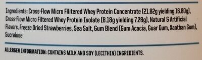 Nutraone protein one 100% whey protein strawberry milkshake - Ingredients - en