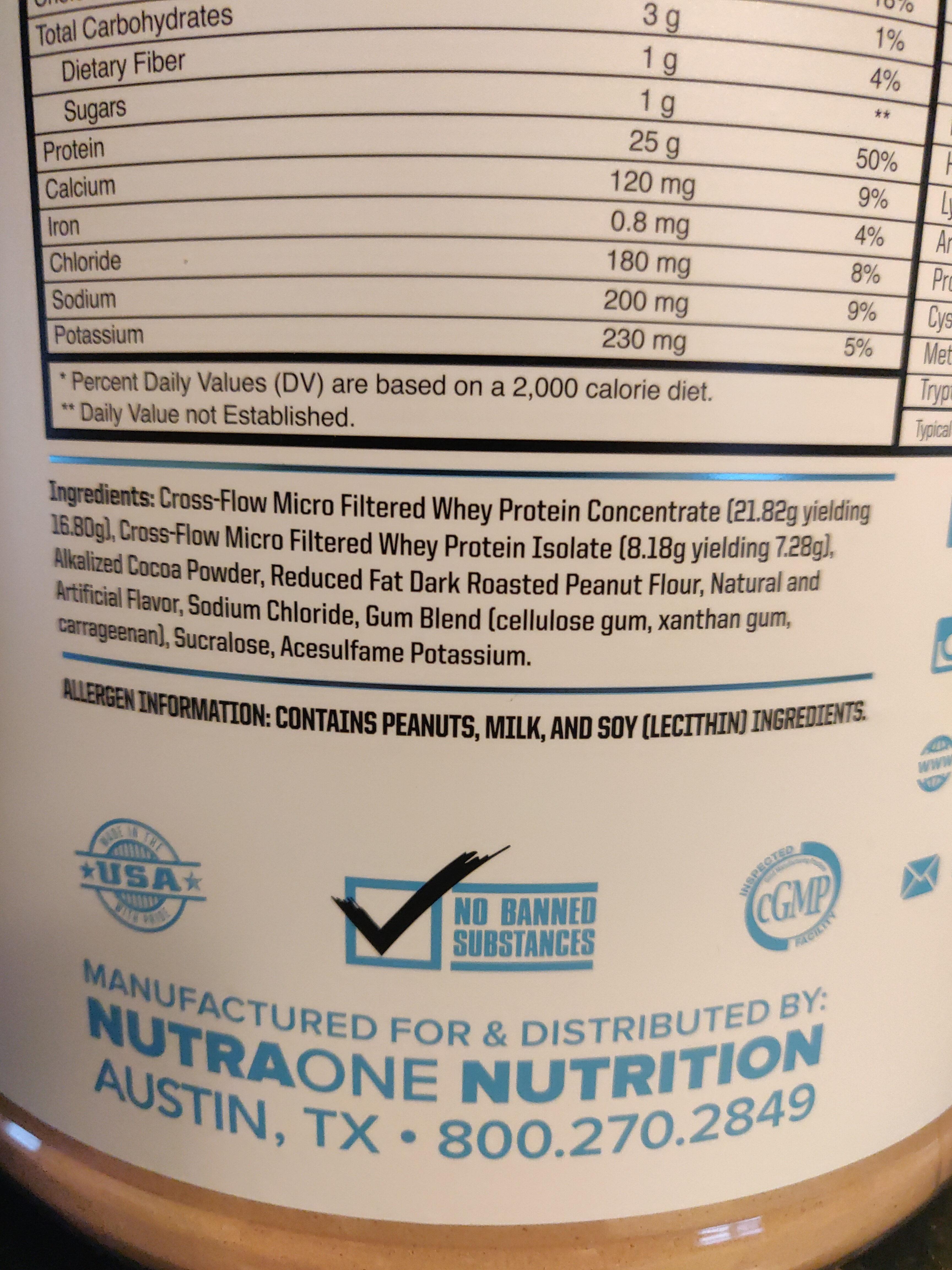 ProteinOne, Peanut Butter Cup - Ingredients - en