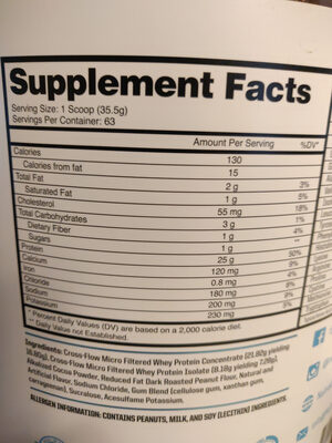 ProteinOne, Peanut Butter Cup - Nutrition facts - en