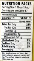 Coconut oil - Nutrition facts - en