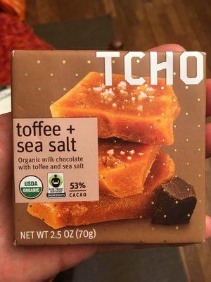 Organic Milk Chocolate, Toffee And Sea Salt - Product