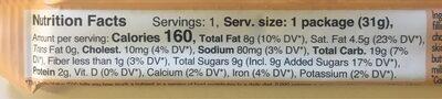 4 Cookie Squares Hazelnut - Voedingswaarden - fr