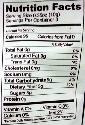 Organic Blueberries - Nutrition facts