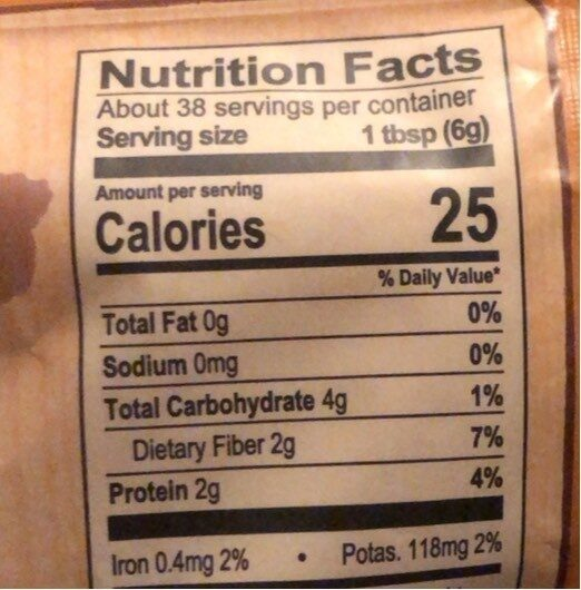 Himalaniaorganic cacao powder with maca pouch - Nutrition facts - en