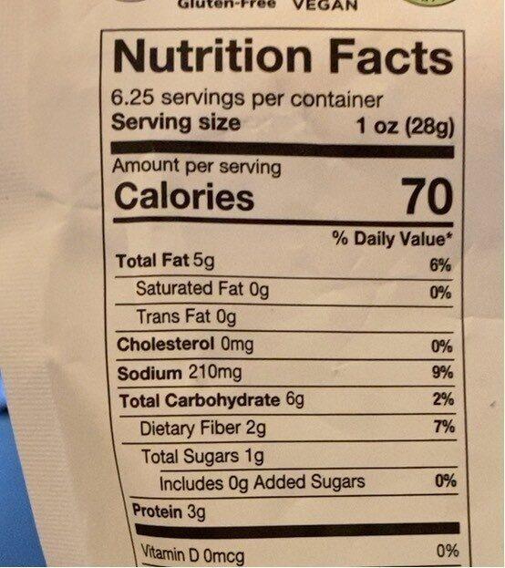 Crunchy kale - Nutrition facts - en