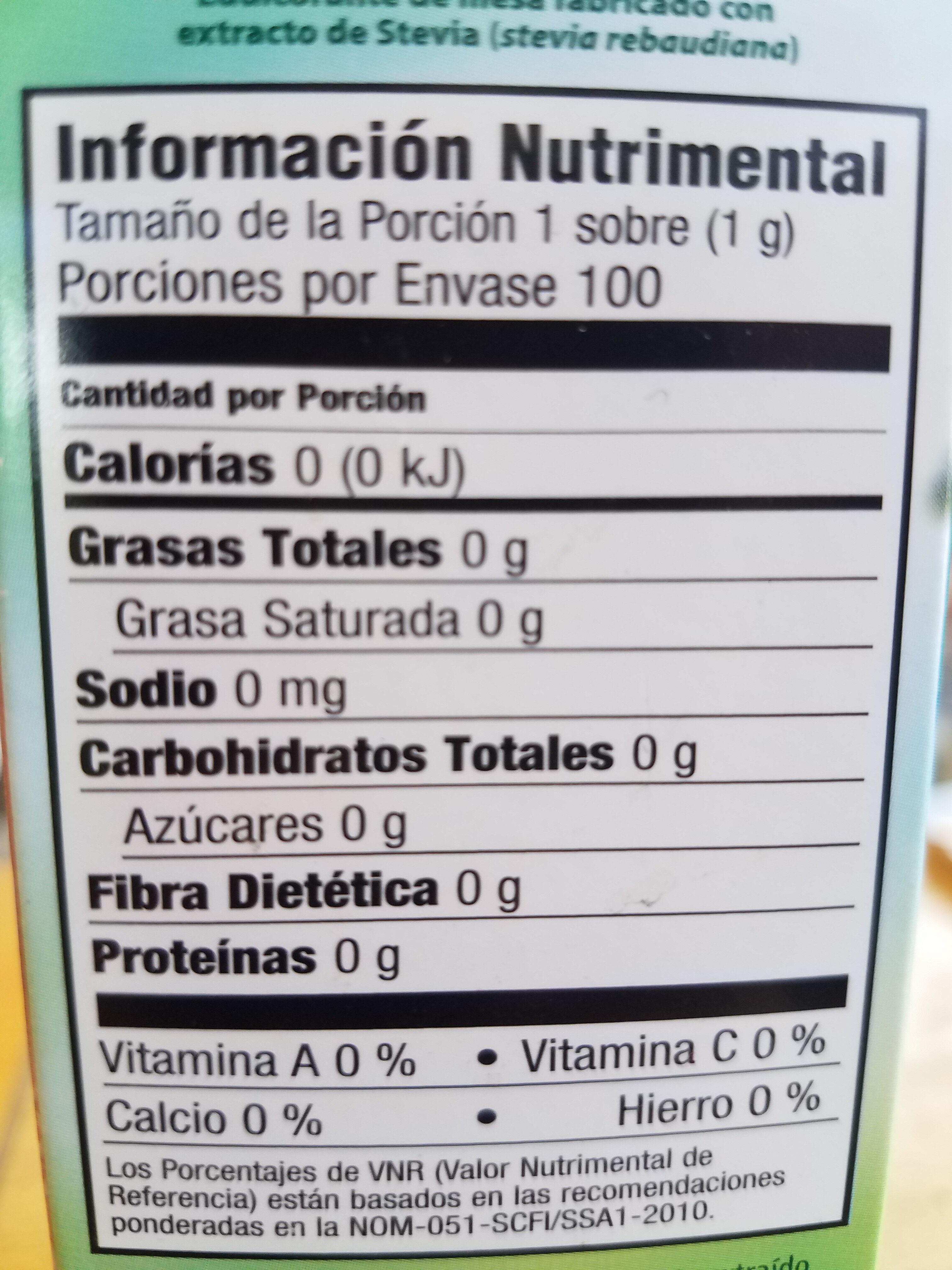 - Nutrition facts - es