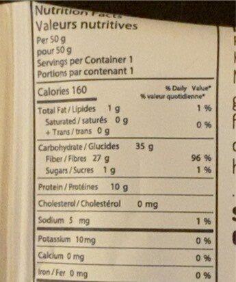 Vegan protein gummies - Voedingswaarden - fr