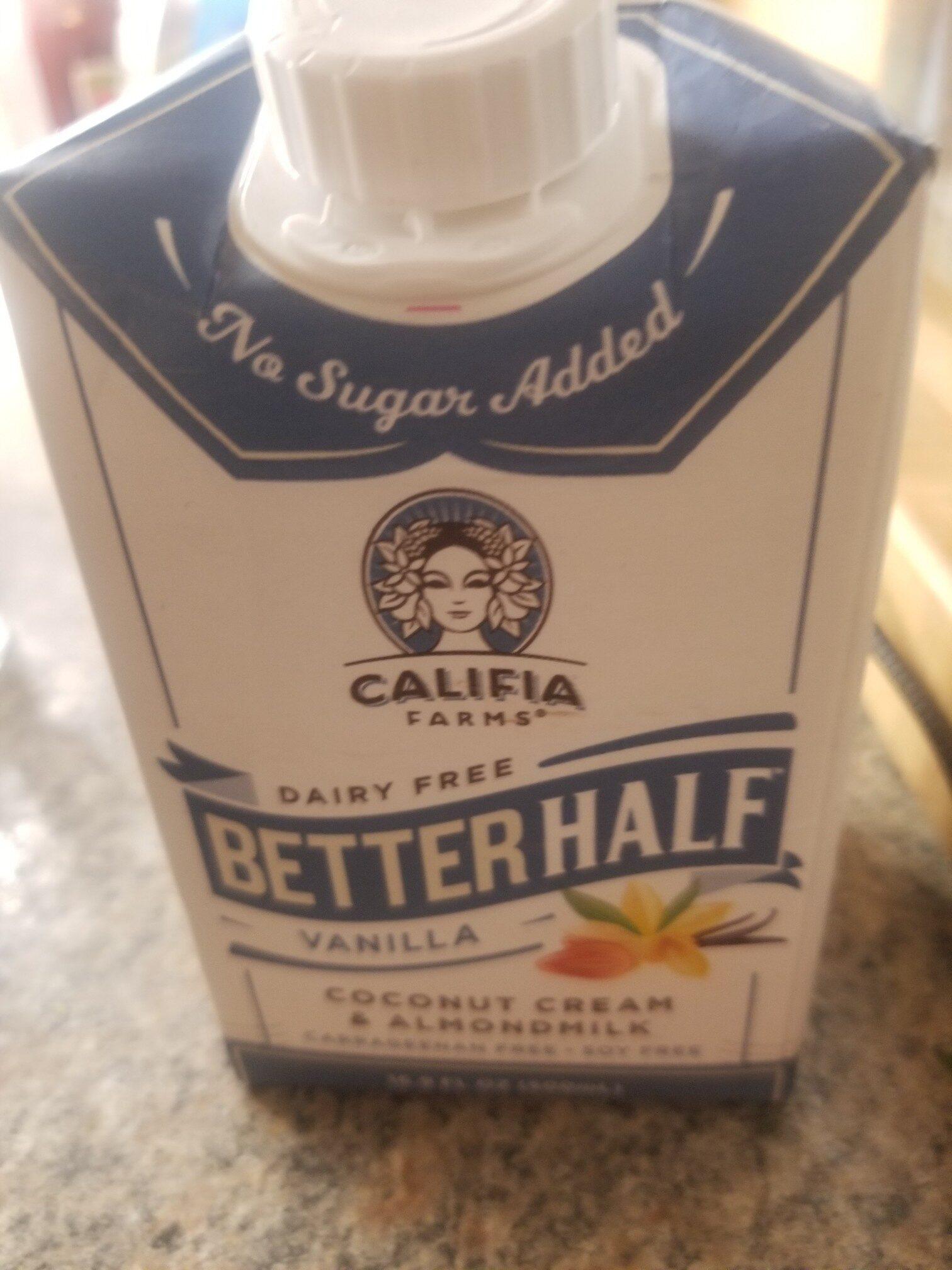 Coconut cream & almondmilk, vanilla - Product - en