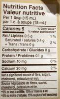 Douce moitié - Nutrition facts - fr