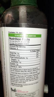Kula watermelon antioxidant beverage, kula watermelon - Ingredients - en