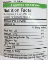 Bai, antioxidant supertea, bottled tea, paraguay passionfruit - Nutrition facts - en