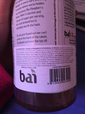 Antioxidant Supertea - Rio Raspberry Tea - Ingredients