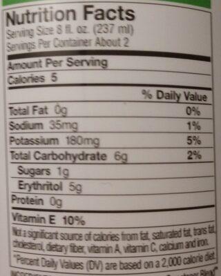 Bai - Nutrition facts