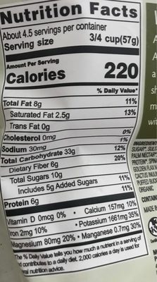 Activated superfood cereal - Nutrition facts