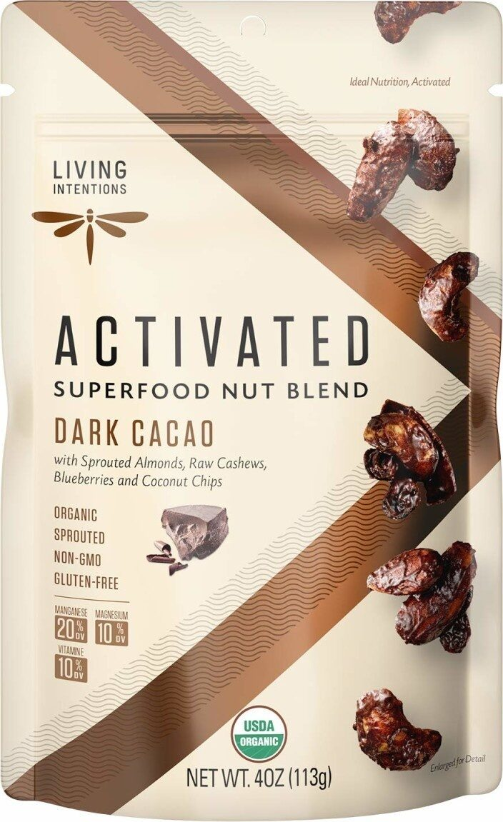 Sprouted organic nut blend dark cacao nongmo - Produit - en