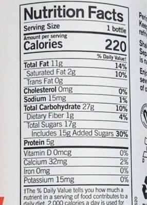 Probiotic plant shake - Nutrition facts - en