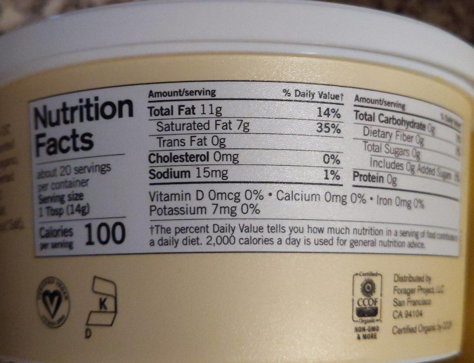Buttery - Nutrition facts - en