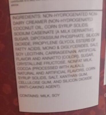 frozen hit chocolate - Ingredients - en