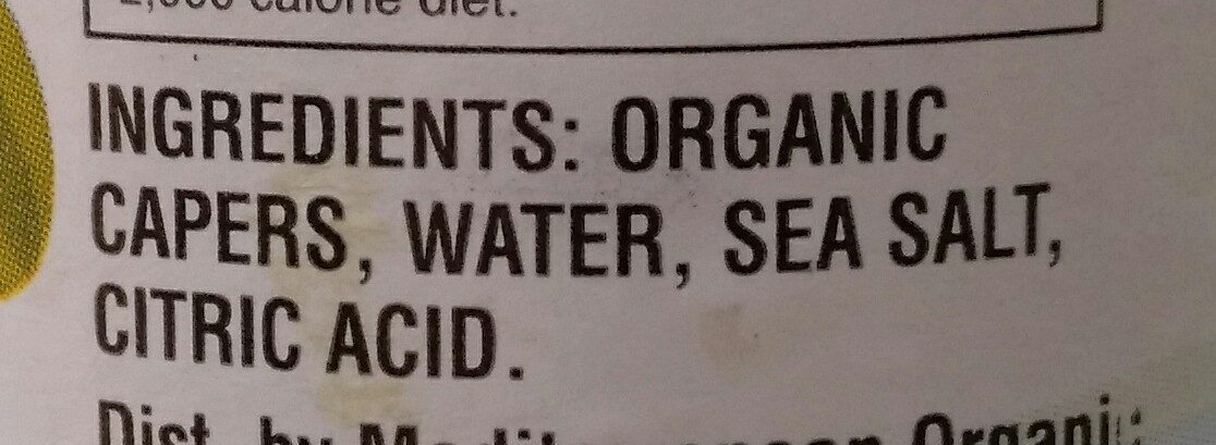 Wild Non-Pareil Capers - Ingredients