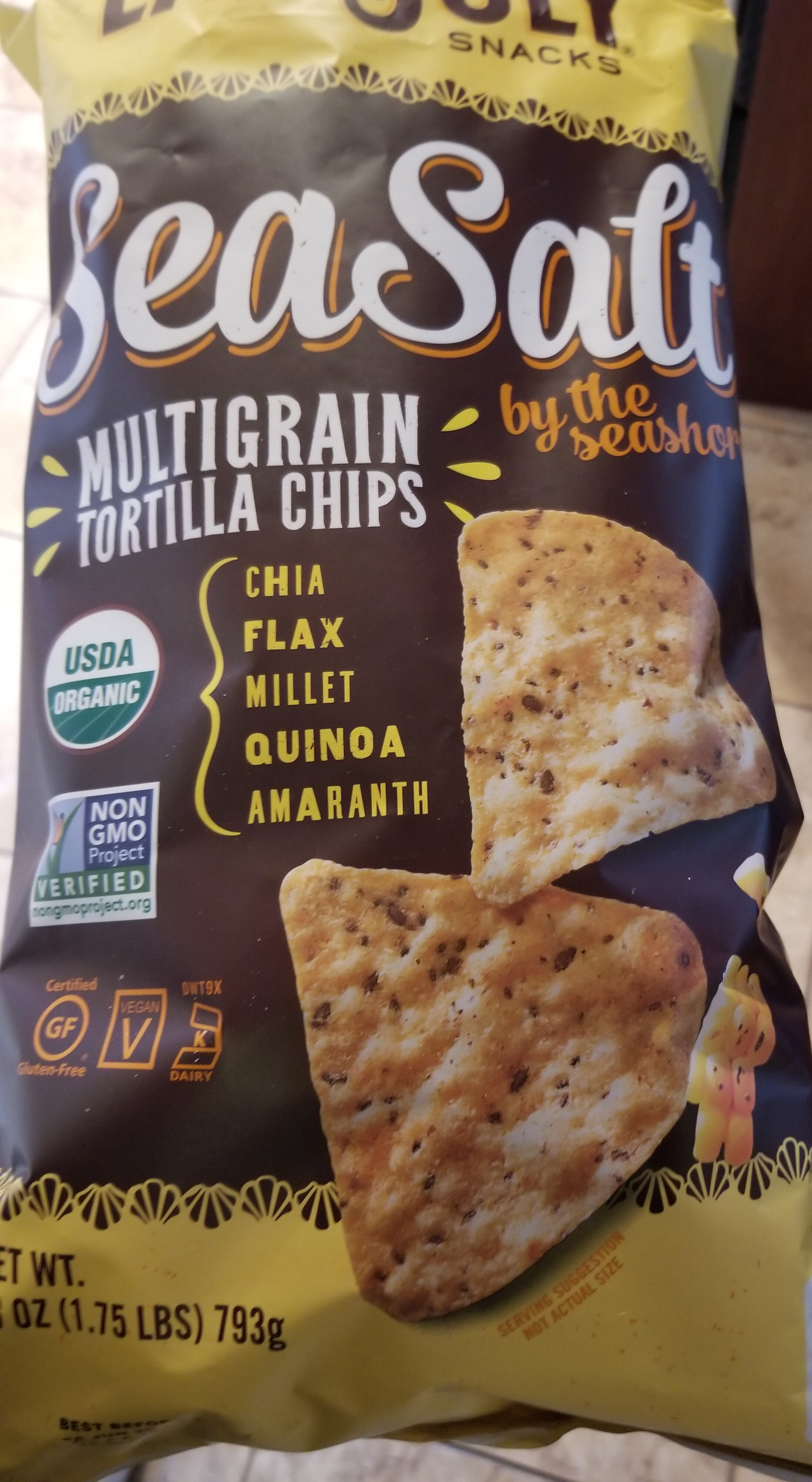 Sea salt multigrain tortilla chips - Product